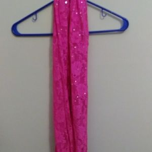 Pink glittery scarf